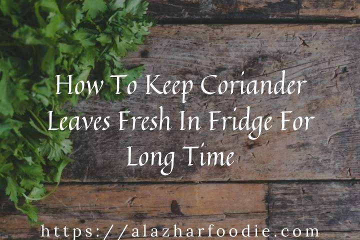 How To Keep Coriander Leaves Fresh In Fridge For Long Time