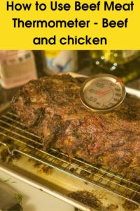How to Use Beef Meat Thermometer - Beef and chicken