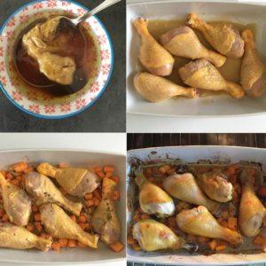 How to Make Baked Chicken Drumsticks with Lemon, Honey, and Mustard Sauce