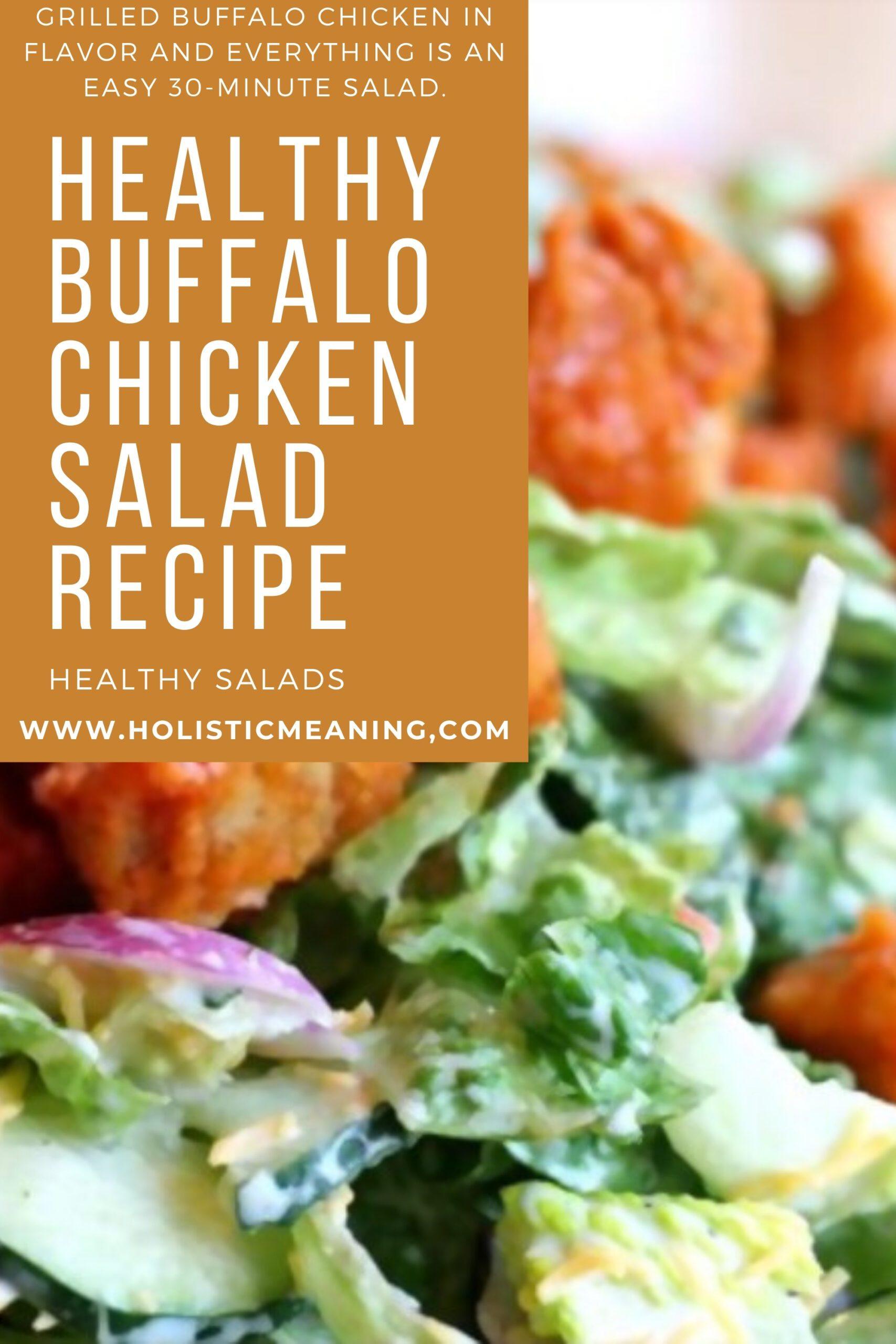 Healthy Buffalo Chicken Salad Recipe #holistic #healthysalad