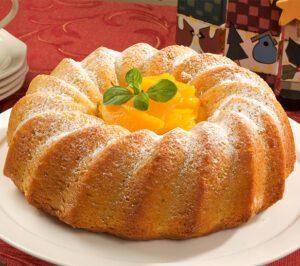 Vanilla Peach Coffee Cake Recipe