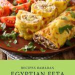 Egyptian Feta Cheese Omelet Roll