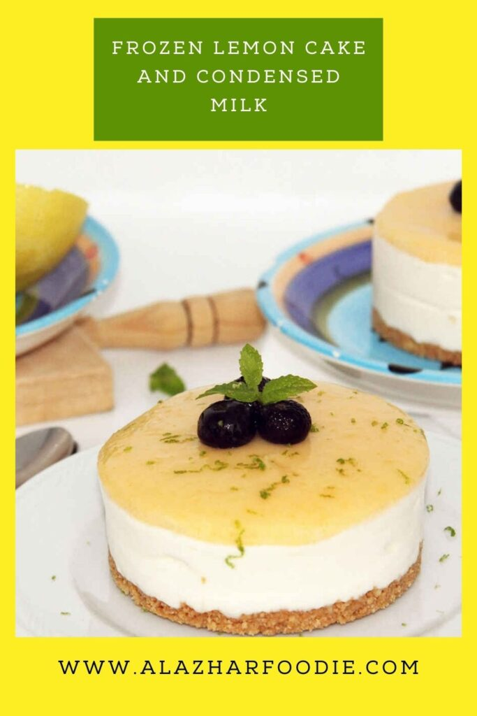 Frozen lemon cake and condensed milk