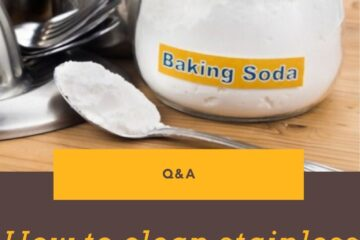 How to clean stainless steel appliances with baking soda?