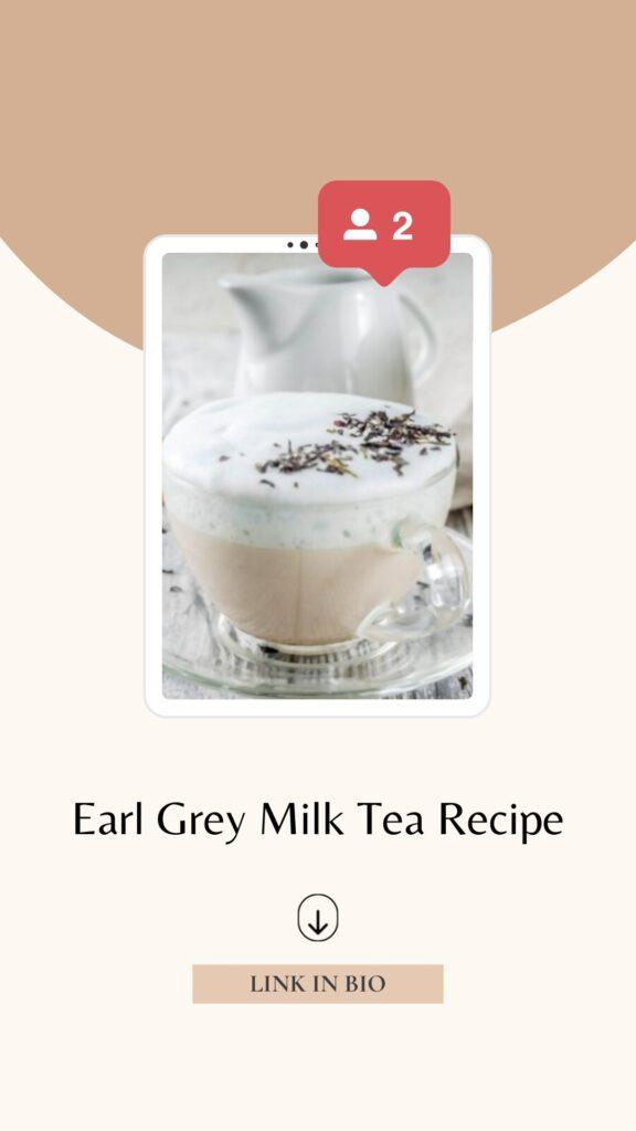 Earl Grey Milk Tea Recipe