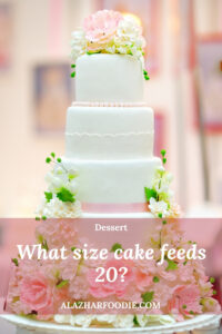 What size cake feeds 20 1