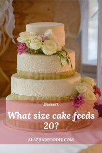 What size cake feeds 20